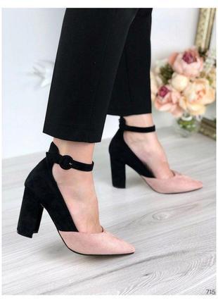 Стильные женские босоножки, туфли замшевые, хит сезона, босоножки, туфли на каблуке