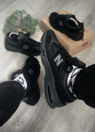 Мужские кроссовки new balance 991 (чёрные)