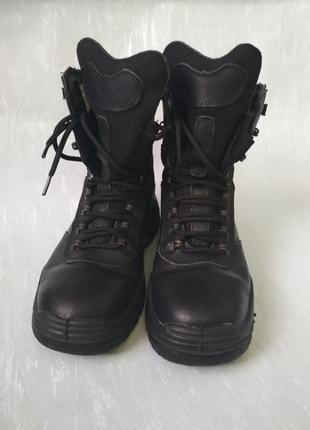 Берцы черные кожаные 'талан', черевички з высокими берцями / военная, тактическая обувь
