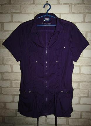 Натуральная рубашка туника р-р л-14 бренд street one
