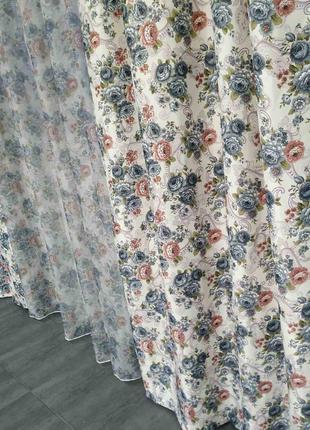 Готовые шторы с тюлем компаньоны прованс