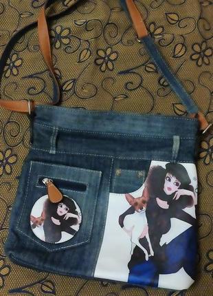 Джинсовая сумочка2 фото