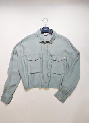 Актуальная вискозная рубашка блуза блузка asos m-l