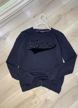 Оригинальная хлопковая кофта свитер свитшот tommy hilfiger