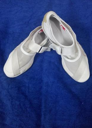 Кожанные кроссовки puma