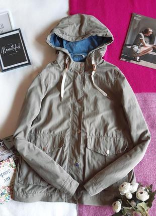 Стильна куртка парка кольору хакі/легкая ветровка курточка хаки