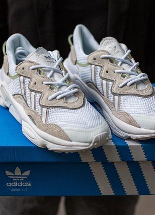 Женские кроссовки adidas ozvego white\grey