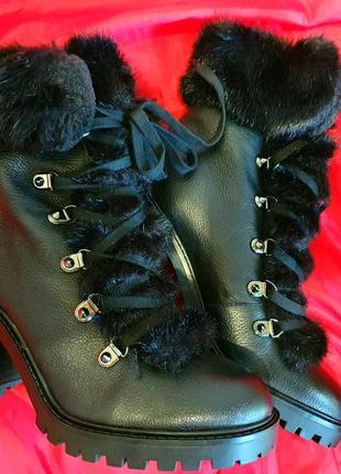 Ботинки guess galway, кожа,оригинал.