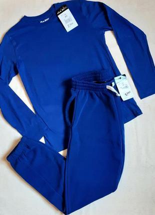 """Синий спортивный костюм реглан и штаны с начесом """"b.a. basic"""" германия на 12 и 14 лет"""
