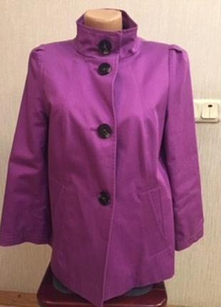 Фирменный яркий пиджак плащ оригинального кроя marks&spencer можно беременным