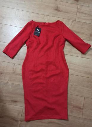 Новое платье под замшу. снижение цены