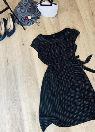 Стильное платье h&m в горошек