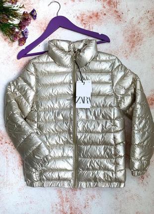 Демисезонная куртка zara на девочку 8-9 лет