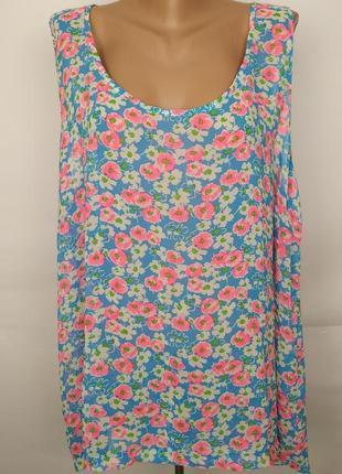 Блуза легкая шифоновая нежная в цветочный принт большой размер new look uk 22/50/4xl