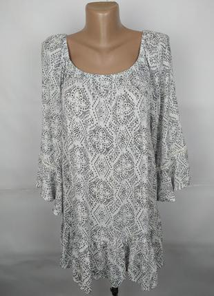 Блуза шикарная натуральная легкая приятная большого размера evans uk 20/48/3xl