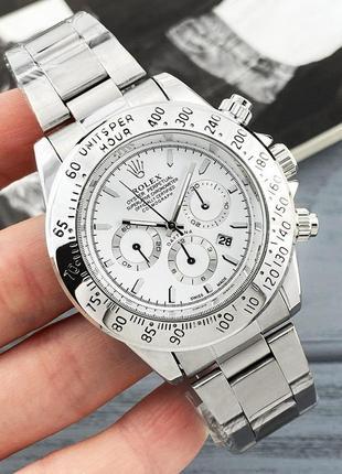 Мужские часы | классические часы rolex daytona silver-white