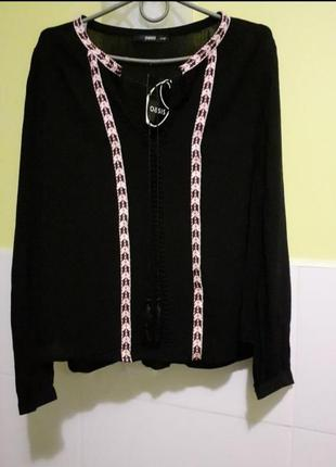 Череая блуза с длинным рукавом от oasis