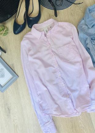 Стильная зефирная рубашка h&m