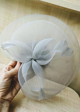 Шляпа заколка вуалетка