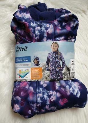 Курточка демисезонная,  ветровка на девочку crivit softshell  134-140 р на 8-10 лет.