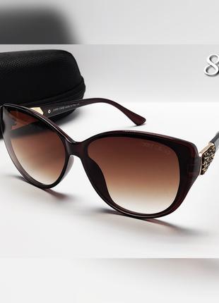Красивые женские очки солнцезащитные с блестящими вставками