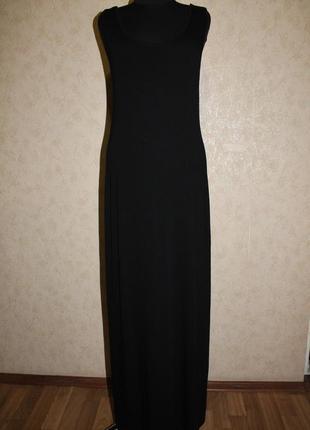 Платье макси вискозное в пол