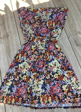 Стильное актуальное платье тренд maison scotch & soda zara h&m massimo принт цветочный