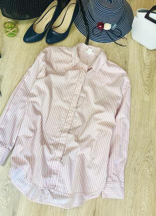 Классная рубашка h&m,крой over size