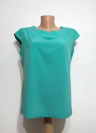 Базовый топ блуза lubina зелёный, бирюза, (украина) l-xl