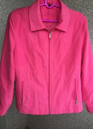 Розово - лиловая новая куртка finesse на молнии, карманы на молнии