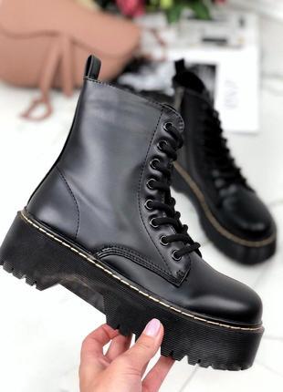 Демисезонные черные ботинки