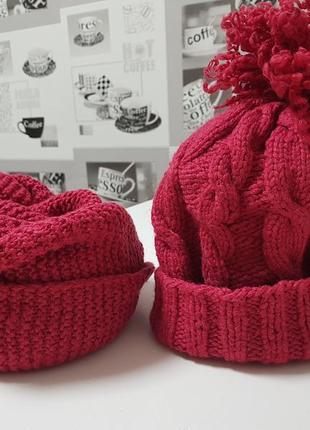 Комплект шапка и снуд, ручная работа