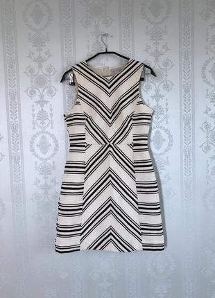 Платье в полоску h&m,хлопок,классическое,бежевый!