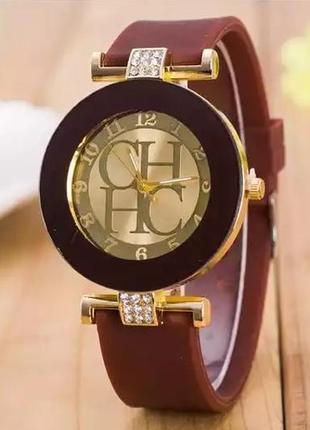 Часы наручные женские коричневые годинник