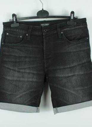 Крутые джинсовые шорты jack & jones rick icon shorts regular fit