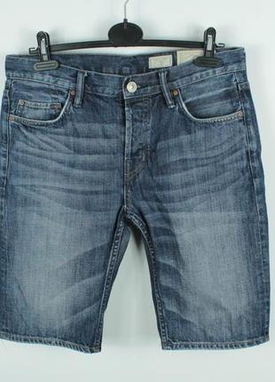 Джинсовые шорты allsaints stamp switch denim shorts regular fit