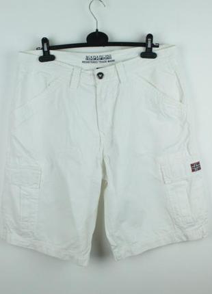 Оригинальные качественные карго шорты napapigri bermuda cargo white short