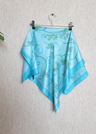 Нежный шелковый платок, косынка италия, 100% шёлк