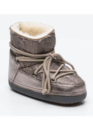 Новые ботинки inuikii, швейцария кожа+мех (овчина) мун бут угги сапоги луноходы зима