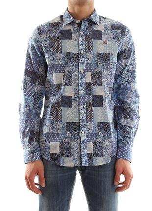 Превосходная оригинальная рубашка napapijri gisbone fantasy slim fit shirt