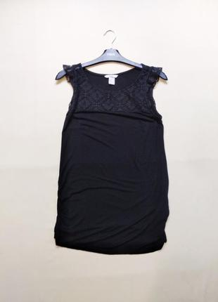 Вискозная удлиненная майка футболка для беременных xs-s