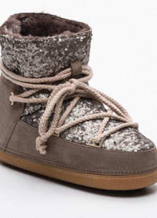 Новые сапоги inuikii мун бут moon boot ugg луноходы зима мех нюанс ботинки