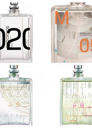 Набор самых уникальных инновационных  ароматов от гезы  шоэн molecule и escentric