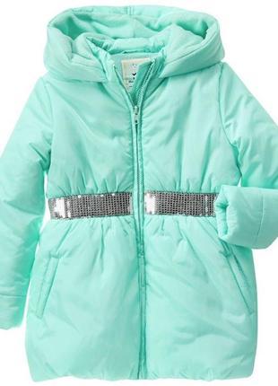 Куртка для девочки gymboree с пайетками 5-6л