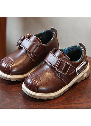 Туфли детские pu-кожа frogprince коричневые