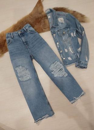 Крутые джинсы кюлоты cropp