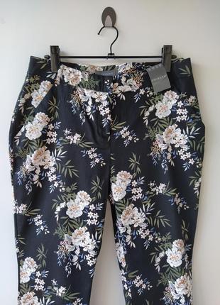 Шикарные хлопковые штаны в цветах от primark