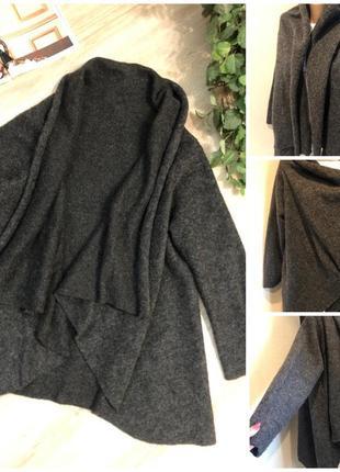 Тёплый кардиган блейзер накидка пиджак жакет кардиган блейзер