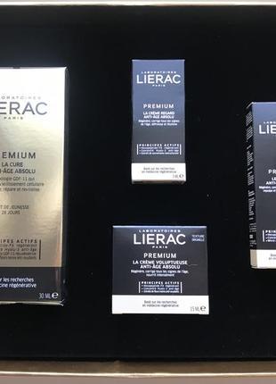Люкс уход lierac premium la cure anti age absolu франция 4 средства