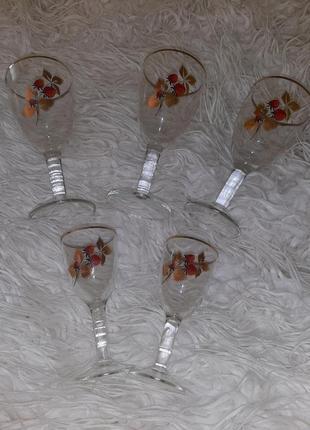 Набор бокалы и рюмки из тонкого стекла
